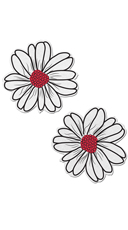 White And Pink Flower Pasties