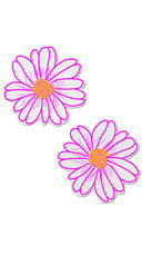 Pink And Yellow Flower Pasties