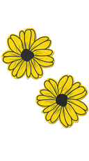 Yellow And Black Flower Pasties