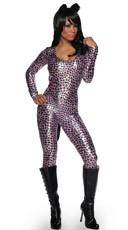 Metallic Leopard Catsuit
