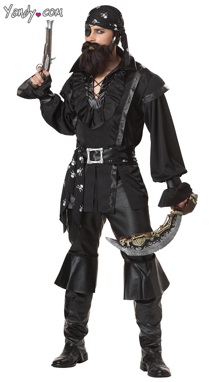Mens Plundering Pirate Costume, Mens Pirate Costume, Mens Pirate ...