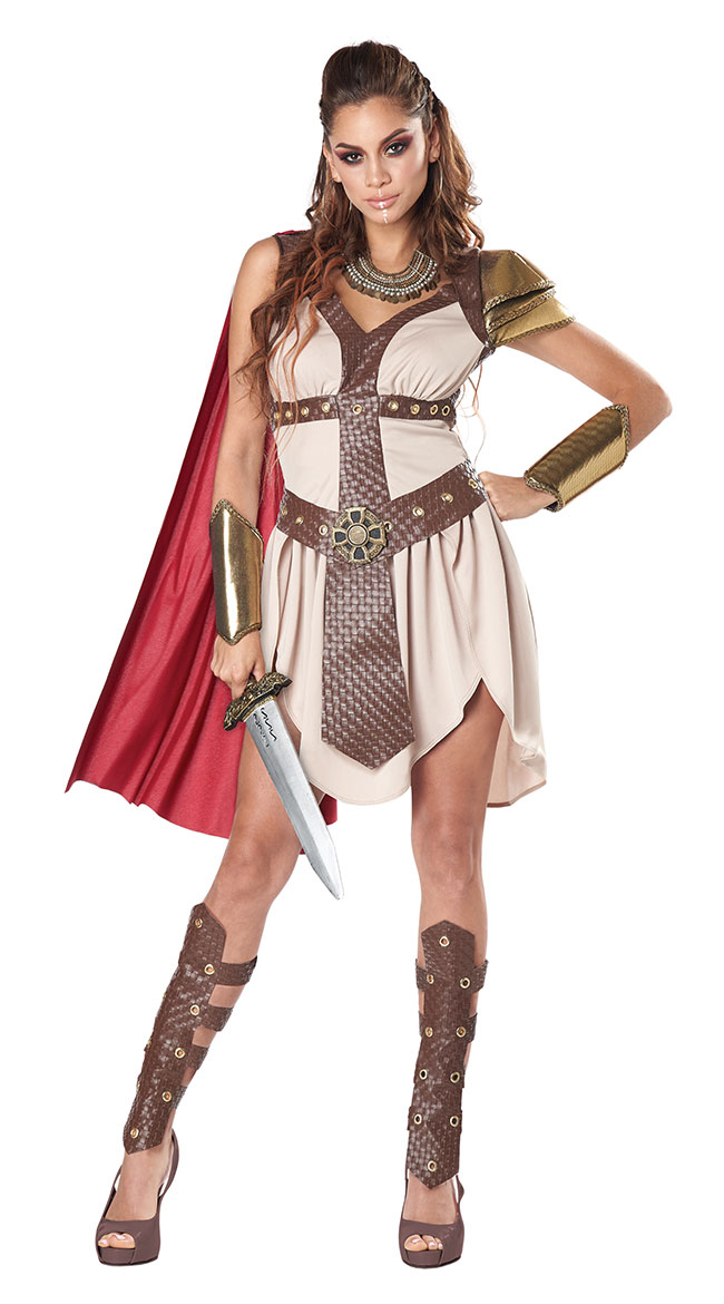 Adult Warrior Costumes, Viking Warrior Costumes, Female