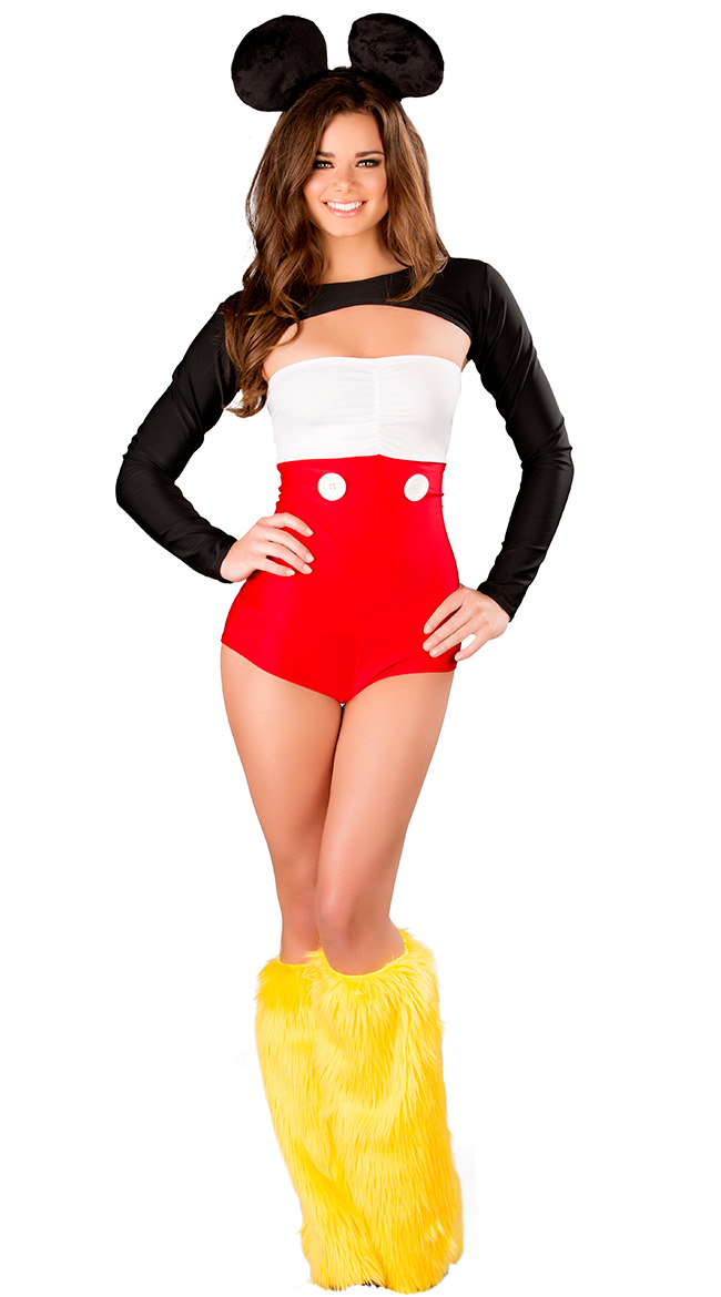 SALE Adult Animal Disney Mickey Mouse Mens Fancy Dress Costume Party Outfit