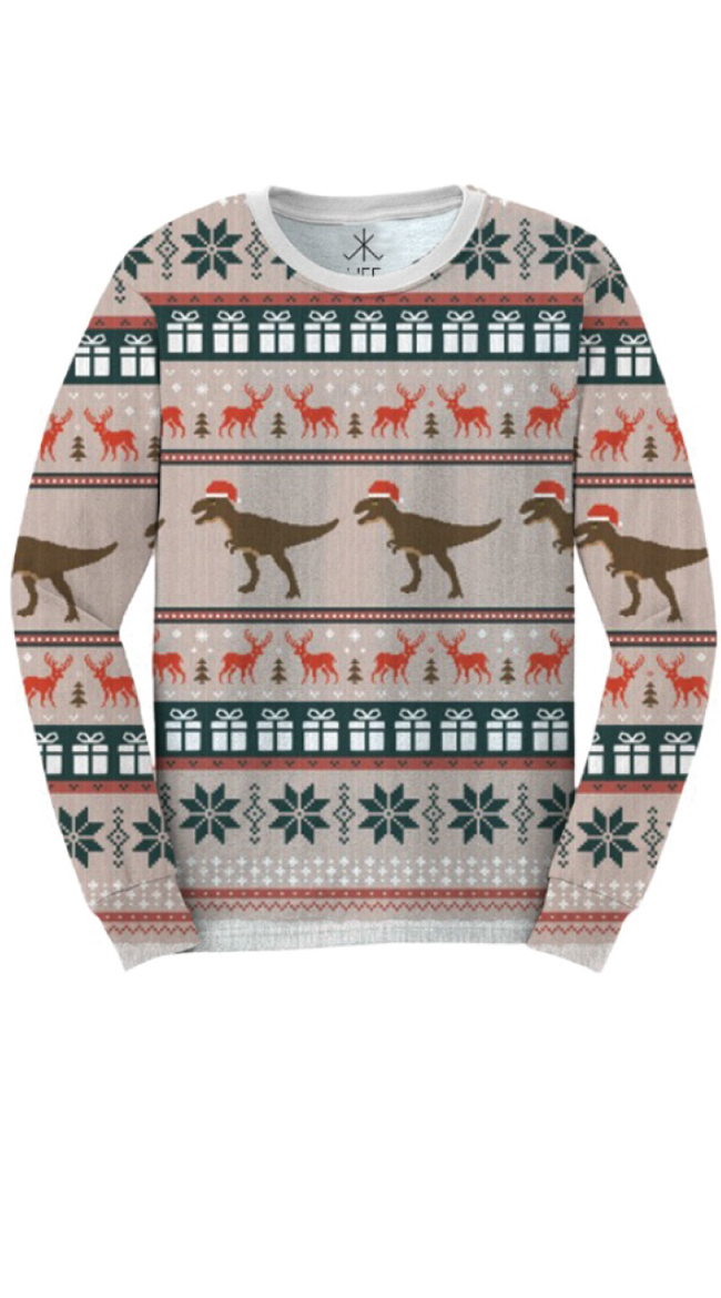 T-Rex Faux Ugly Christmas Sweater Shirt, T Rex Christmas Shirt