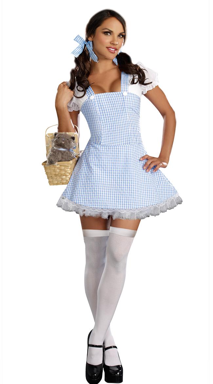 Blue Gingham Dress Blue Patterned Dress Blue Kansas Girl Dress ...