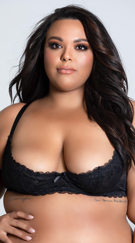 Plus Size Cupless Bra