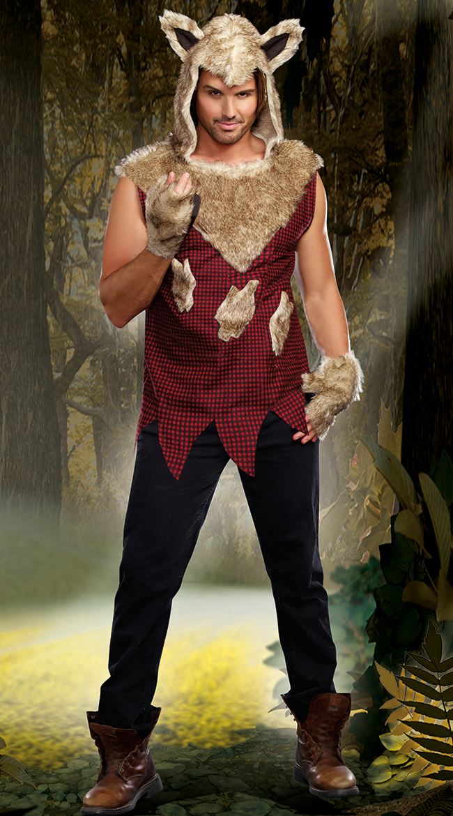 Menu0027s Sexy Bad Wolf Costume Wolf Costume For Men  sc 1 st  eBay & Womens Menu0027s Sexy Bad Wolf Costume Wolf Costume For Men | eBay