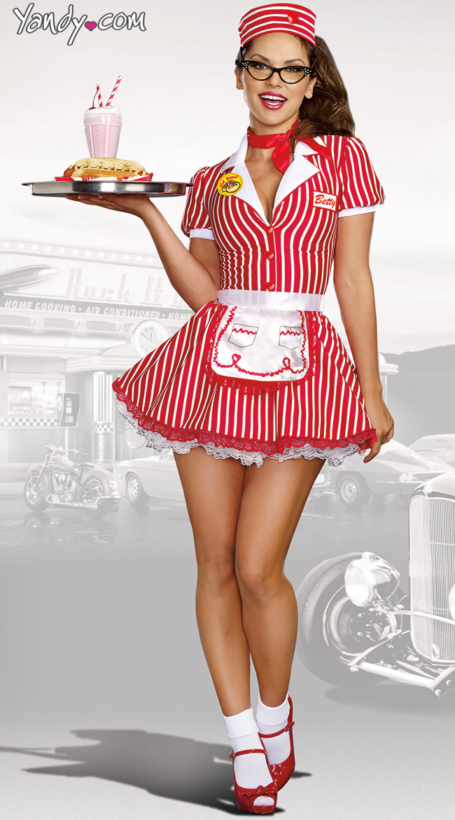 QUICK VIEW - 1950's Costumes, 50's Costumes, 50's Girl Costume, Adult 50s