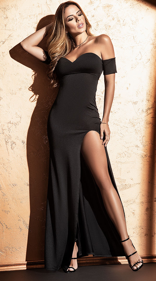 Black Skimpy Mini Dress Party Women/'s Short Stretchy Ladies Sultry Plunge 504