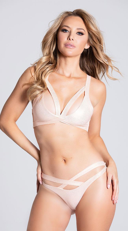 Womens Yandy Vibrant Blossoms Strappy Bikini Top