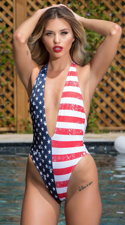 3b7852d16b22e Yandy Stars and Stripes One Piece Swimsuit