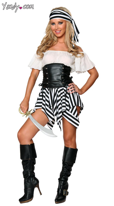 Short Pirate Costume, Exclusive Pirate Halloween Costume, Black ...
