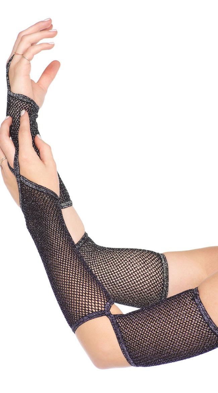 Music Legs 4442 Hot Pink Oval Net Thigh High Stockings Costume Rave Gogo Dancer