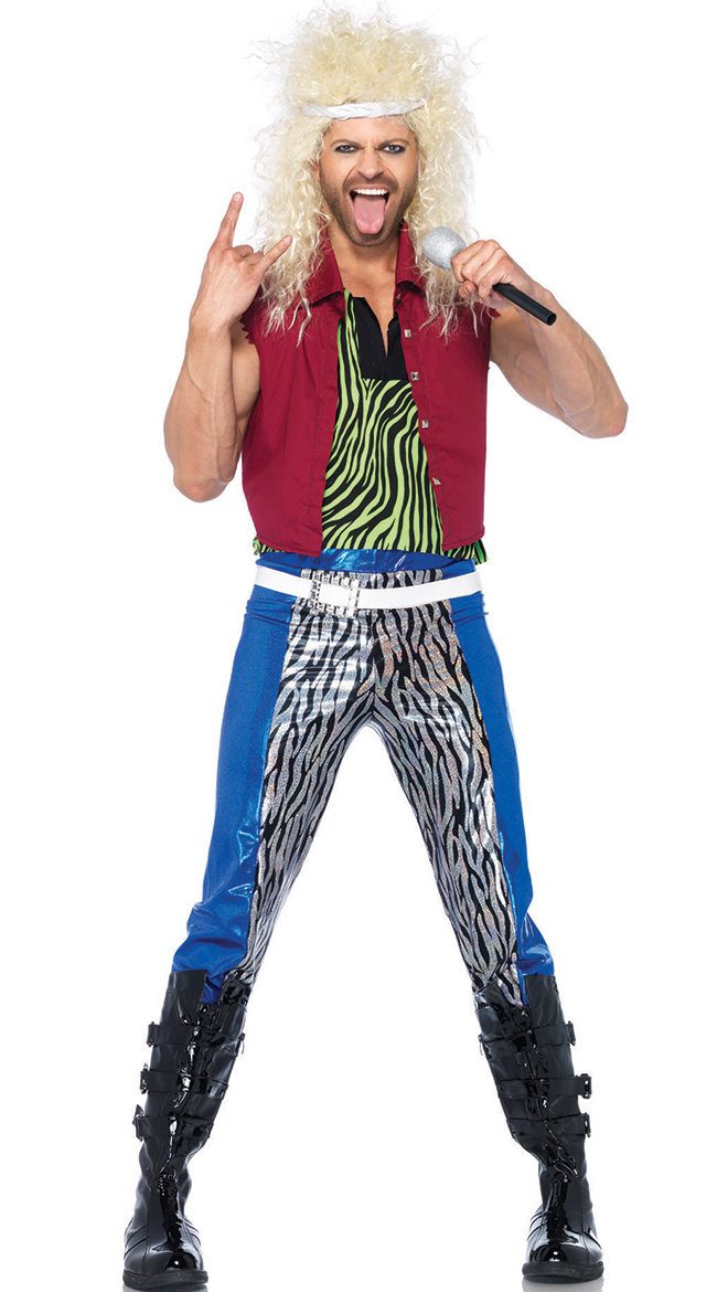Mens 80s Rocker Costume 80s Hair Band Costume 80s Rock God Costume