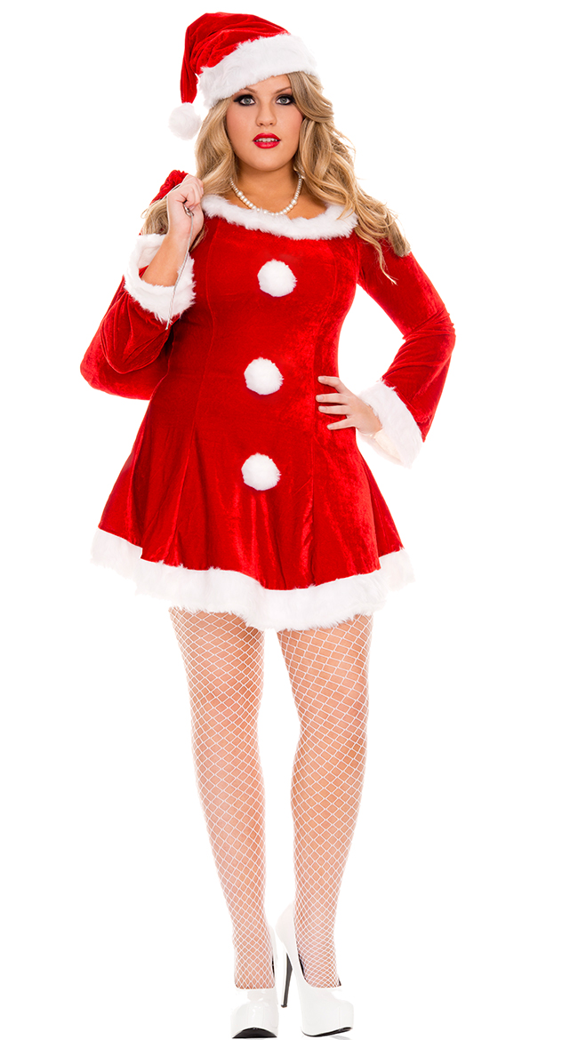 Details about 3X/4X Womens Plus Size Sleigh Hottie Santa Costume, Plus Size  Santa Girl Costume