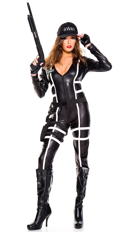 Sexy Swat Agent Costume Swat Agent Costume  sc 1 st  eBay & Womens Sexy Swat Agent Costume Swat Agent Costume | eBay