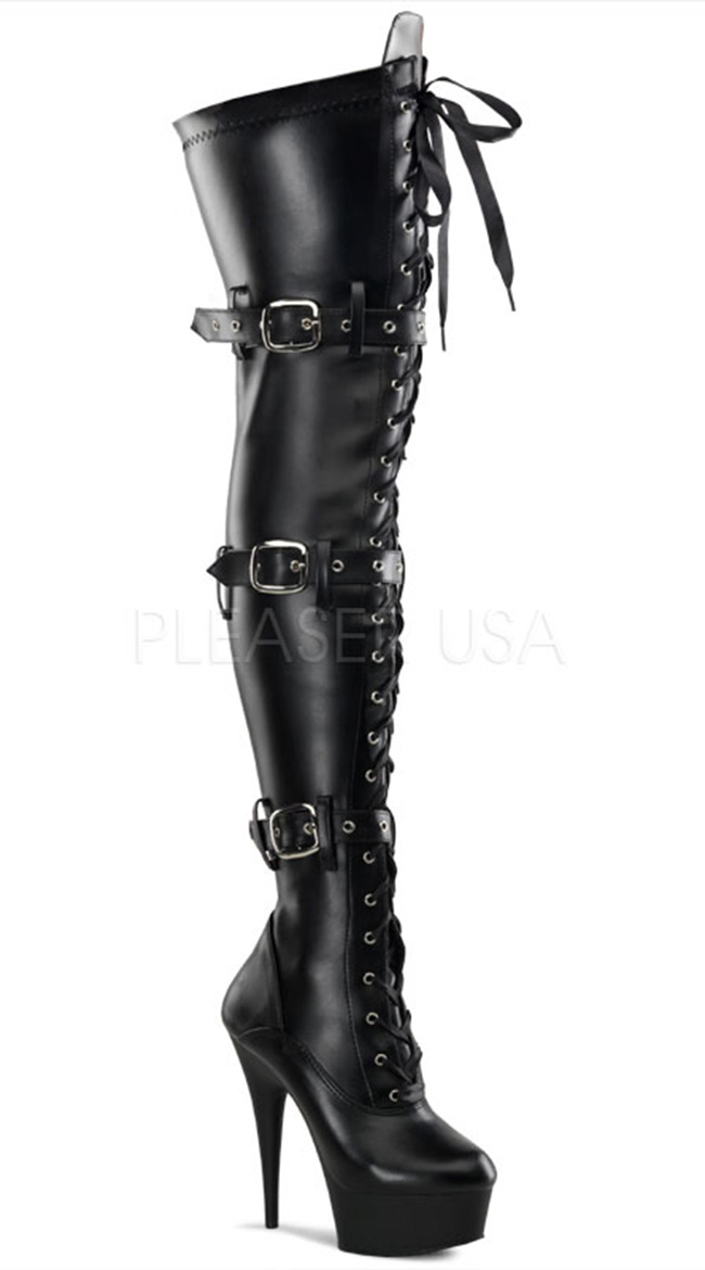 Total Domination Thigh High Platform Boot, Thigh High Boots for ...