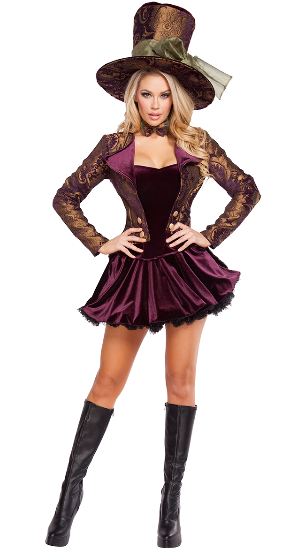 Tea Party Vixen Costume, Mad Hatter Costume, Alice In Wonderland Costume