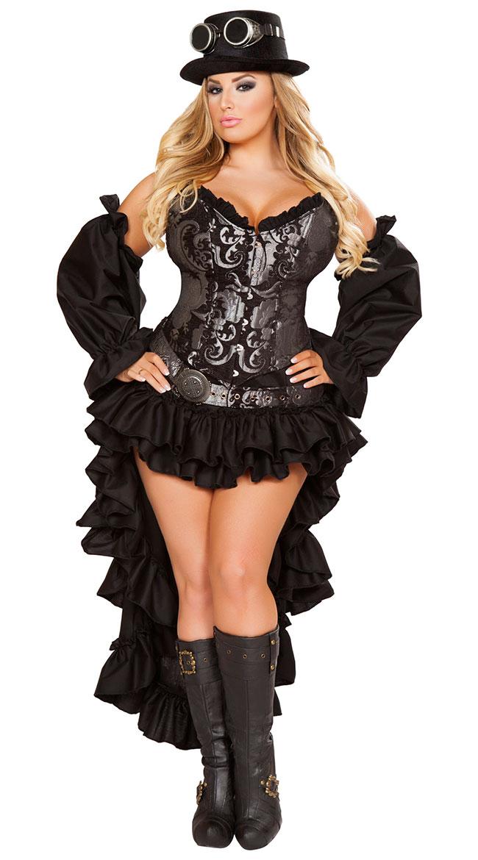 6da94cd0abd Plus Size Sexy Steampunk Maiden Costume