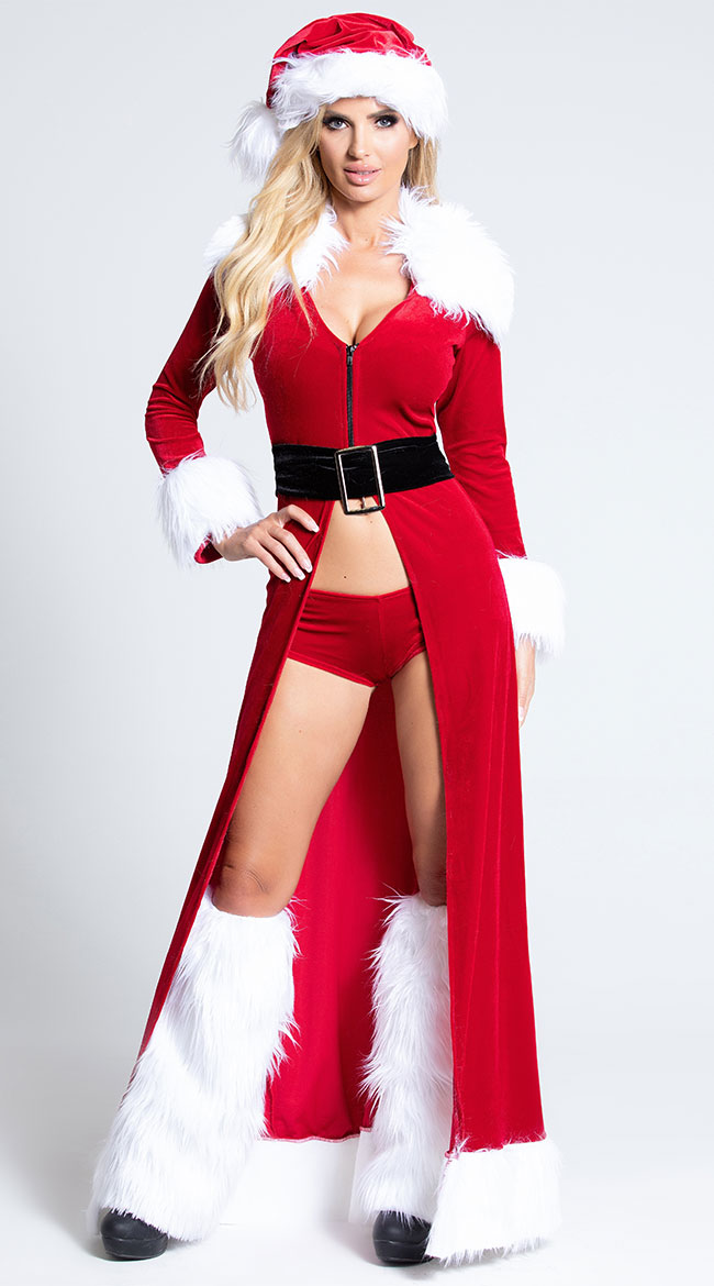 Mature women in sexy christmas lingerie and heels Sexy Santa Helper Costumes And Accessories Deluxe Theatrical Quality Adult Costumes