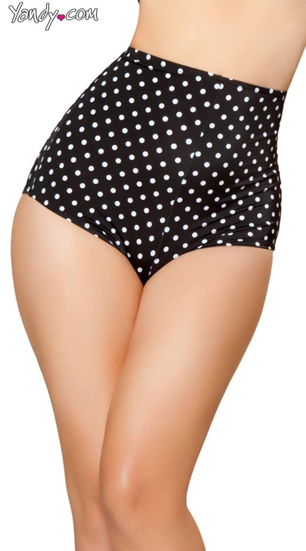Sexy Black High Waisted Shorts, Sexy High Waisted Shorts, Polka ...
