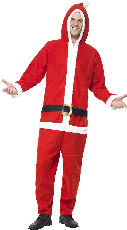 Mens Santa Jumpsuit, Mens One Piece Santa Costume, Mens Onesie ...