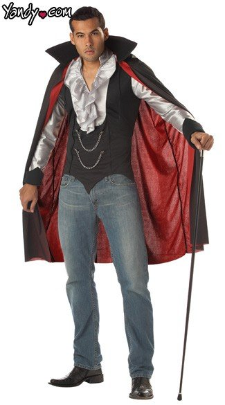 Very Cool Vampire Costume - Black/Silver