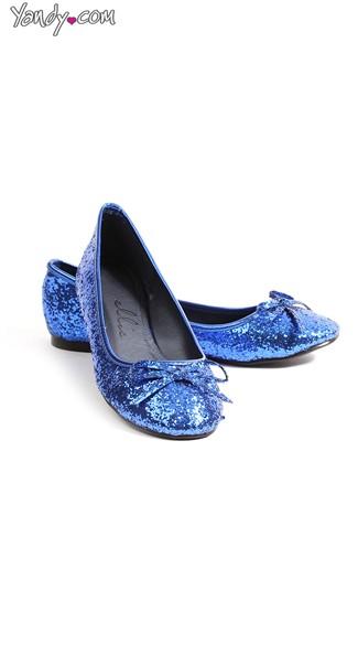 Glitter On Pointe Daily Ballet Flat - Blue Glitter