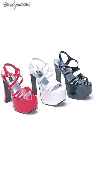 "6.5"" Heel Strappy Sandals, Triple Strap Sandals"