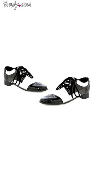 Men's 50's Loafer  - Black W/White