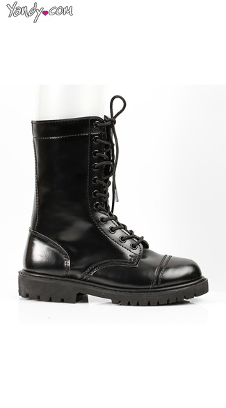Sexy Lace Up Combat Boots, Lace Up Boots for Women, Biker Boots for Women