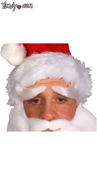 Deluxe Santa Eyebrows, Santa Claus Eyebrows, Santa Costume Eyebrows