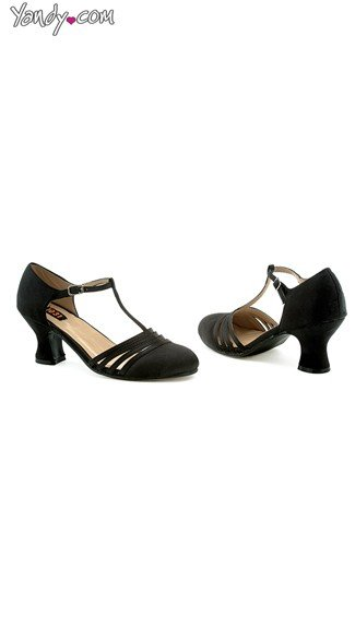 Shimmy and Shake Satin Evening Pump, Ladies Dress Shoes, Black High Heels - Yandy.com