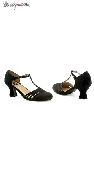 Shimmy and Shake Satin Evening Pump - Black