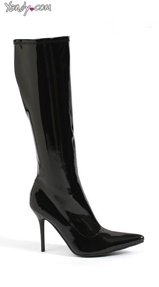 Bad Girl Knee High Patent Boot, Sexy Boots for Women, Costume Boots
