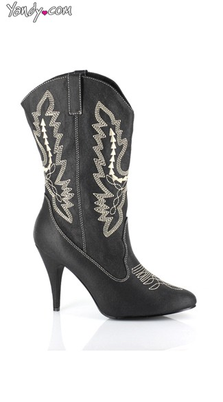 Round \'Em Up! Sexy Cowgirl Bootie, Western Ankle Boots, Womens Riding Boots - Yandy.com
