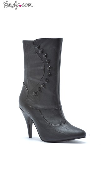 Black Stud Mid-Calf Bootie - as shown