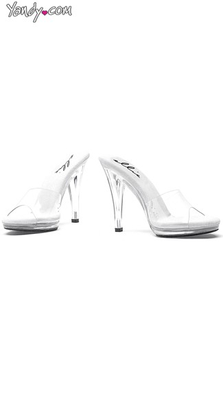 Clear Slide Heel with Open Toe - Clear