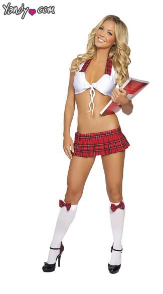 Study Date School Girl Costume - Red Plaid