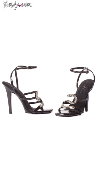 Strappy Snake Charmer Stiletto Heel - Black