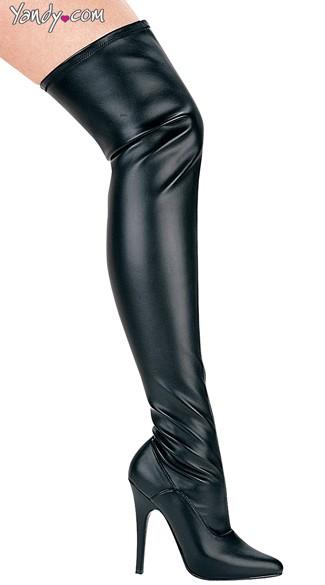 Killer Instinct Wet Look Stretch Boot - Black