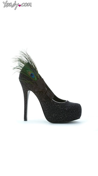 Ruffle My Feathers Speckled Pump - Black