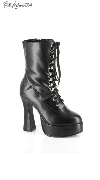Lace Up Chunky Motor Boot  - as shown