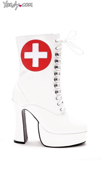 Medic Tease Platform Bootie, Best Nursing Shoes, Costume Boots for Women - Yandy.com