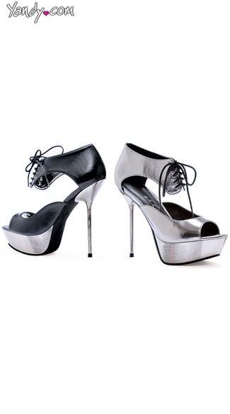 Future Groove Stiletto Platform Heel - Pewter