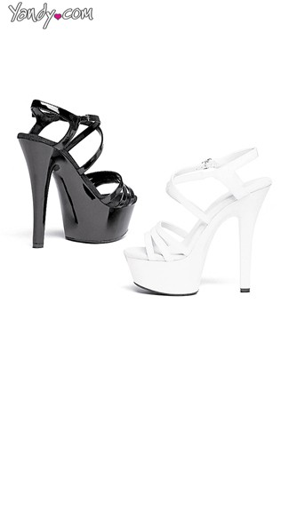 Make It Rain Strappy Platform Sandal - White
