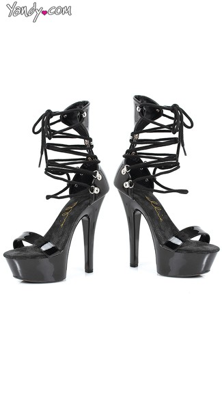 On the Prowl Strappy Ankle Tie Sandal - Black