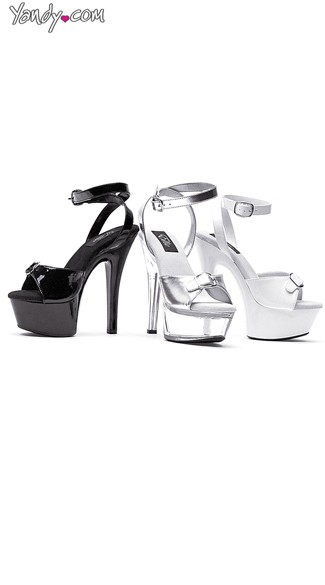 Buckle Up Stiletto Platform Sandal - Black