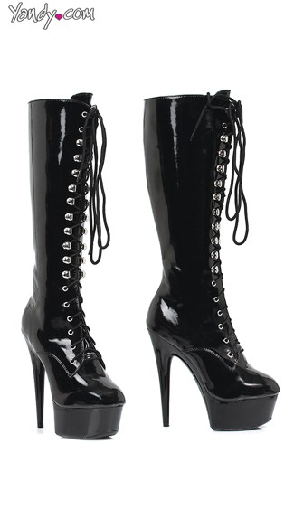 Lace Up Platform Boots - as shown