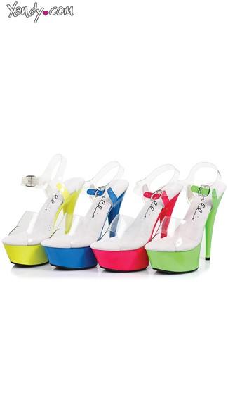 Neon Stiletto Sandals - as shown